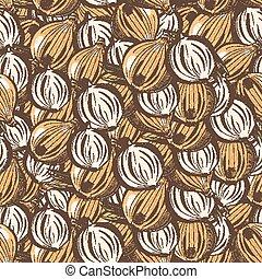 Vintage Onion Seamless Pattern