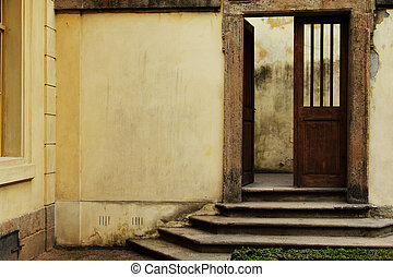 Vintage open door
