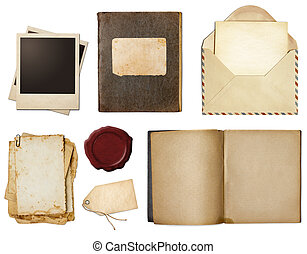 Vintage or retro set isolated