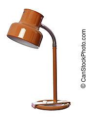 Vintage Orange lamp isolated on a white background