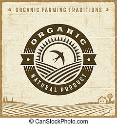 Vintage Organic Natural Product Label