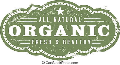 Vintage Organic Nutrition Graphic - vintage style organic ...