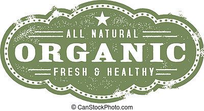 Vintage Organic Nutrition Graphic - vintage style organic ...