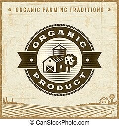 Vintage Organic Product Label