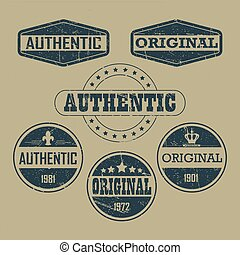 Vintage original authentic labels