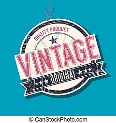 Vintage original tag