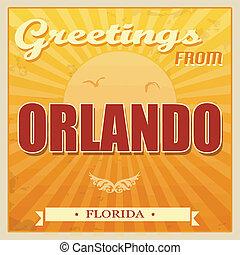 Vintage Orlando, Florida poster - Vintage Touristic Greeting...