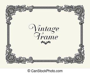 Vintage Ornament Border.
