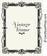 Vintage Ornament Border.