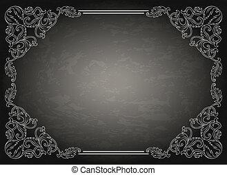 Vintage ornament frame
