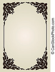 Vintage Ornament Old Frame. Vector