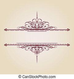 Vintage Ornamental Banner - Vintage decorative text banner...