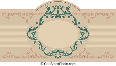 Vintage ornamental label