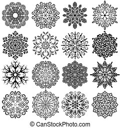 Vintage Ornamental Snowflakes