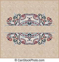 vintage ornamental template