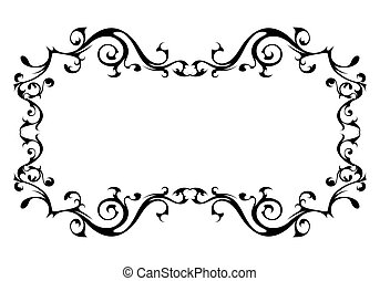 Vintage ornamental vector frame
