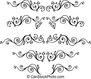 Vintage ornamental vector frames