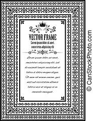 Vintage ornate frame with sample text