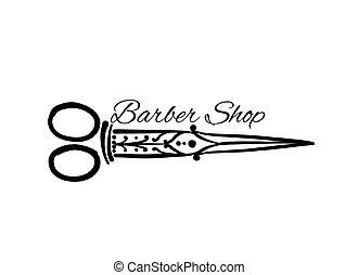 Vintage ornate scissors, sketch for your design