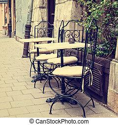 Vintage outdoor restaurant