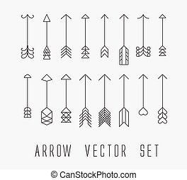 vintage outlined arrows