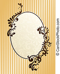 Vintage oval sepia frame - Elegant frame design inspired by...