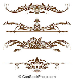 Vintage Page Border - illustration of set of vintage design ...