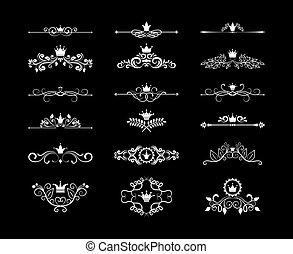 page floral design elements