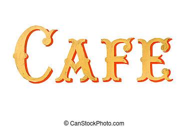 Vintage Painted Cafe Sign