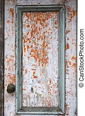 Vintage painted door