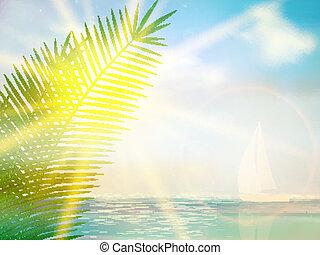 Vintage palm background design template.
