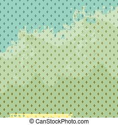 Vintage paper background, diamonds pattern