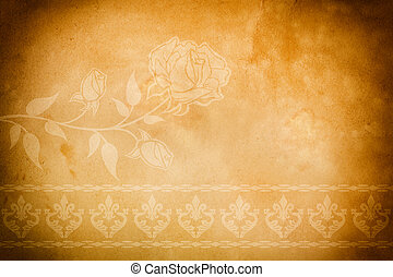 Vintage Paper Background Old Dirty With Stock