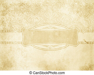 Vintage paper background with decorative patterns.