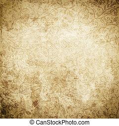Vintage paper background with floral patterns..