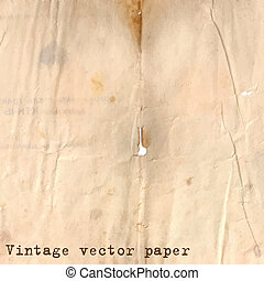 Vintage paper background with grunge texture and holes