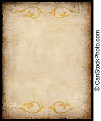 Vintage Paper Background with patterns - Vintage Paper...
