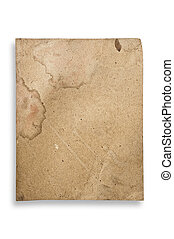 Vintage paper isolated, with clipping path.