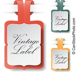 Vintage Paper Label Vector
