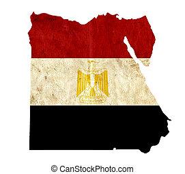 Vintage paper map of Egypt