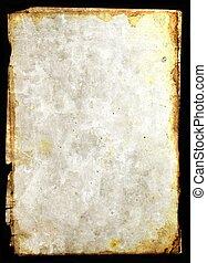 Vintage paper parchm - Mixed media illustration od blank...