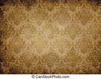 Vintage paper texture with floral patterns.