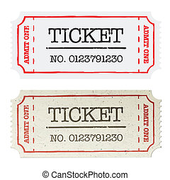 Vintage paper ticket, two versions. Vector illustration,...
