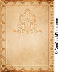 Vintage paper with decorative frame.