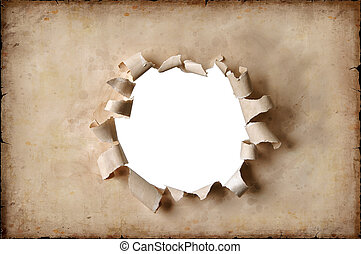 VIntage Paper With Hole