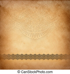 Vintage paper with pattern.
