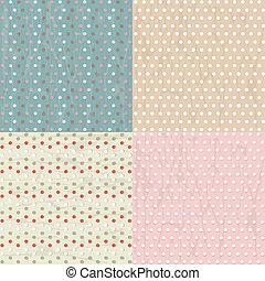 Vintage Paper With Polka Dots Set