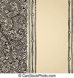 vintage parchment card