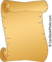 Vintage parchment image 1 - vector illustration.