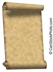 Vintage parchment - Vintage grunge rolled parchment...